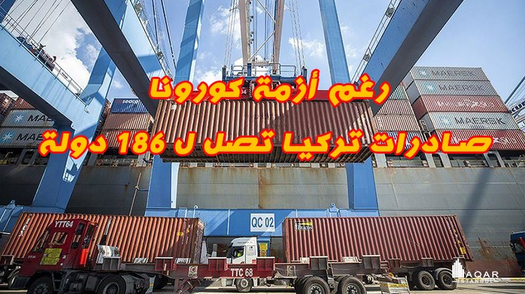 رغم الأزمة العالمية بسبب كورونا صادرات تركيا تصل لـ 186 دولة